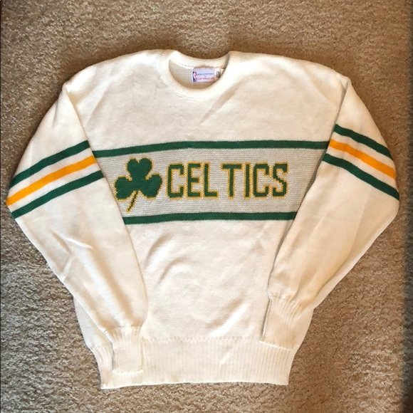 Vintage Cliff Engle Boston Celtics Sweater Size M